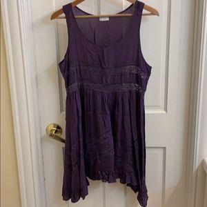 Beautiful boho purple tunic tank dress. M